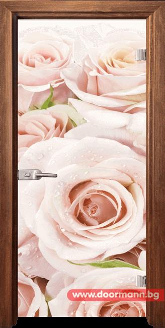 Стъклена врата модел Print 13-7 - Златен дъб