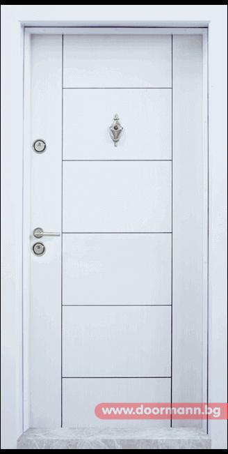 Блиндирана врата Т102 - Бяла